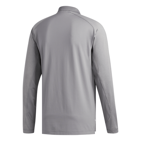 ADIDAS MEN'S ULTIMATE CLIMACOOL SOLID LONG SLEEVE POLO TOP GREY