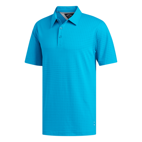 ADIDAS MEN'S ADIPURE LATTICE JACQUARD POLO TOP TURQUOISE