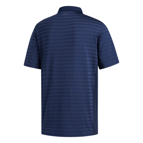 ADIDAS MEN'S ADIPURE PREMIUM STRIPE POLO TOP BLUE