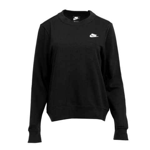 NIKE WOMEN'S NSW CLUB FLEECE CREW BLACK