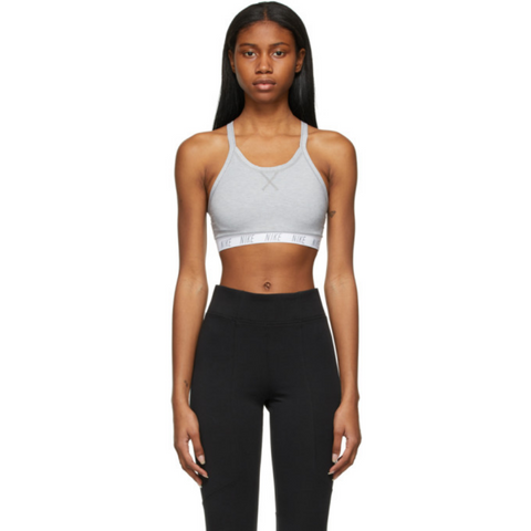 NIKE WOMEN'S NIKE SWOOSH SOFT TEE BRA PARTICLE GREY