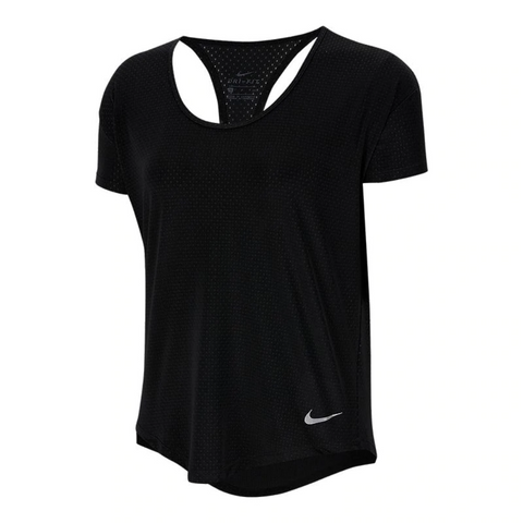 NIKE WOMEN'S BREATHE SHORT SLEEVE BLACK