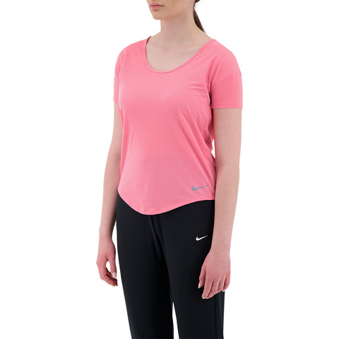 NIKE WOMEN'S BREATHE SHORT SLEEVE PINK GLOW