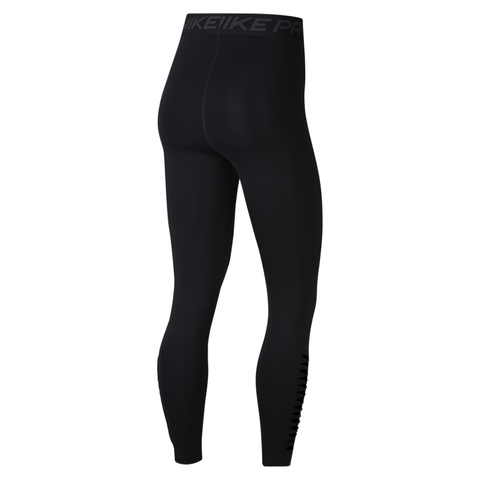 NIKE WOMEN'S PRO TIGHT 7/8 HI-RISE PP1 BLACK