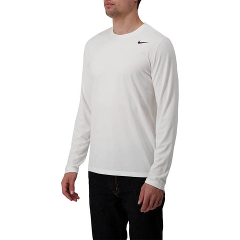 NIKE MEN'S DRY LEGEND 2.0 LONG SLEEVE TOP WHITE/BLACK