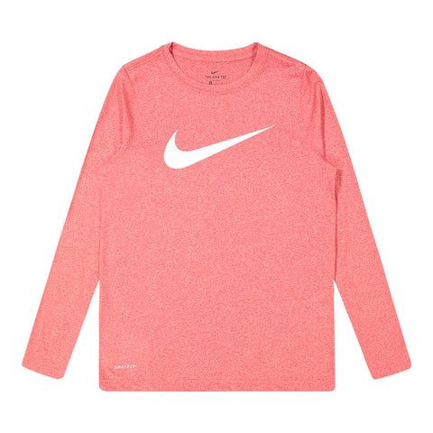 NIKE BOYS DRY LEGEND TEE SOLID GYM RED