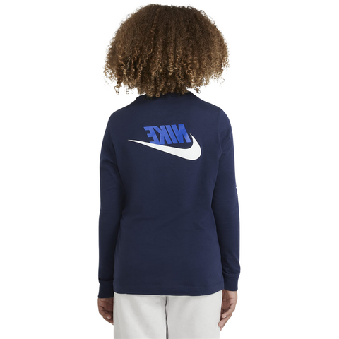NIKE BOY'S NSW TEE LONG SLEEVE FUTURA MIDNIGHT NAVY