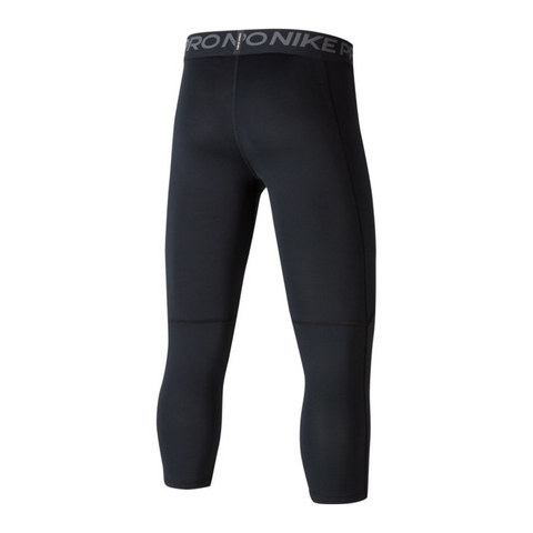 NIKE BOY'S PRO 3/4 TIGHT BLACK