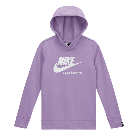 NIKE GIRL'S NSW HERITAGE PULLOVER HOODY VIOLET STAR