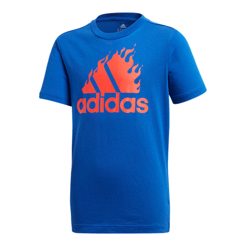 ADIDAS BOY'S BOS GRAPHIC TEE ROYAL