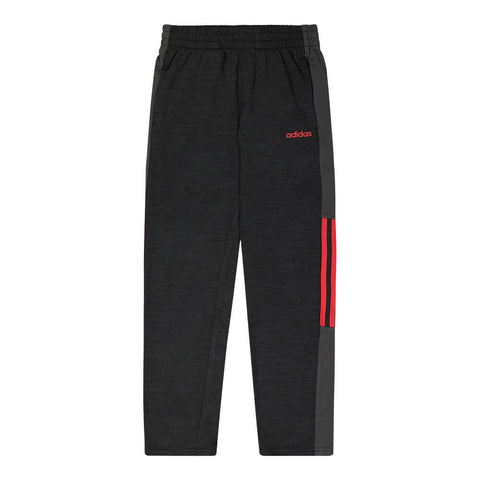 ADIDAS BOY'S MELANGE MESH PANT BLACK/ RED