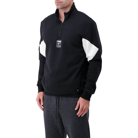 PUMA MEN'S 1/4 ZIP FLEECE TOP BLACK