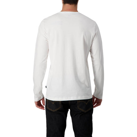 PUMA MEN'S ESSENTIAL #1 LOGO LONG SLEEVE TOP WHITE