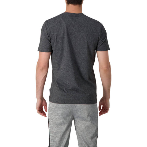 PUMA MEN'S ESSENTIAL+ HEATHER SHORT SLEEVE TOP BLACK
