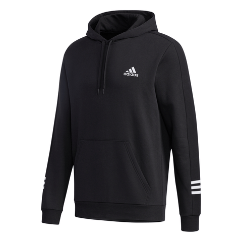 ADIDAS MEN'S COZY FLEECE HOODY BLACK/WHITE
