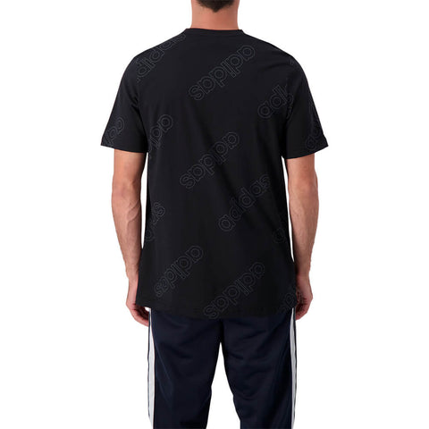 ADIDAS MEN'S FAVE SHORT SLEEVE TOP BLACK