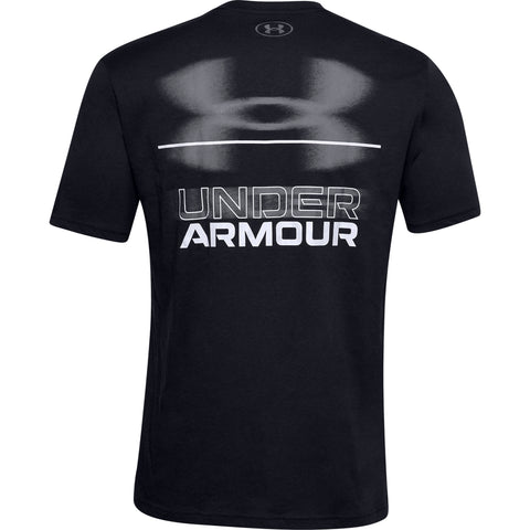 UNDER ARMOUR MEN'S BLURRY LOGO WORDMARK SHORT SLEEVE TOP BLACK/GREY