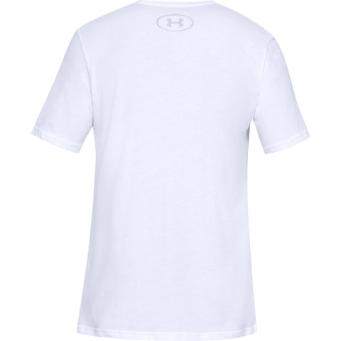UNDER ARMOUR MEN'S SPORTSTYLE LOGO SHORT SLEEVE TOP WHITE/BLACK