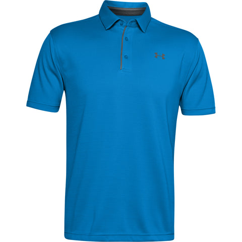 UNDER ARMOUR MEN'S TECH POLO ELECTRIC BLUE/PITCH GREY