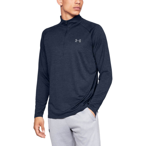 UNDER ARMOUR MEN'S TECH 2.0 1/2 ZIP LONG SLEEVE TOP ACADEMY/STEEL