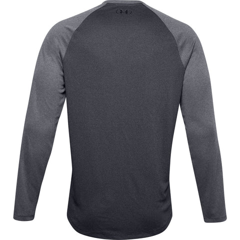 UNDER ARMOUR MEN'S TEXTURED LONG SLEEVE TOP BLACK/BLACK