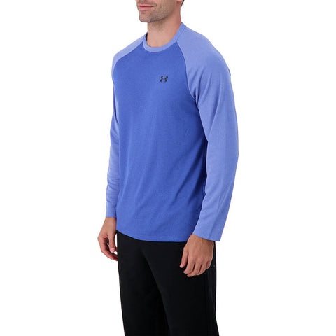 UNDER ARMOUR MEN'S TEXTURED LONG SLEEVE EMOTION BLUE/BLACK