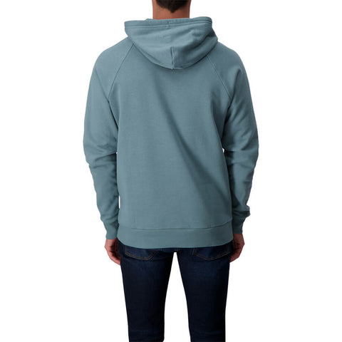 UNDER ARMOUR MEN'S RIVAL FLEECE PULLOVER HOODY LICHEN BLUE/ONYX WHITE
