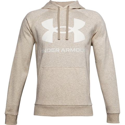 UNDER ARMOUR MEN'S RIVAL FLEECE BIG LOGO HOODY HIGH BUFFALO/WHITE