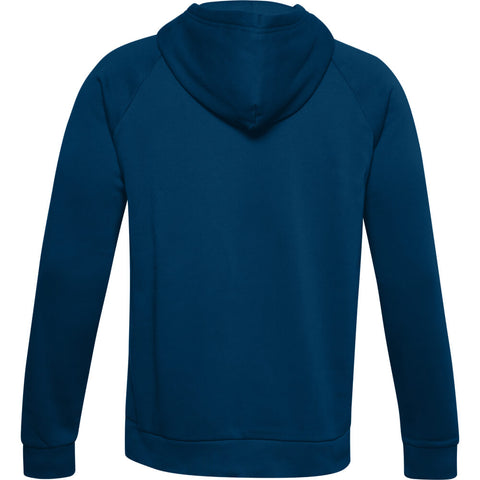 UNDER ARMOUR MEN'S RIVAL FLEECE BIG LOGO HOODY GRAPHITE BLUE/WHITE
