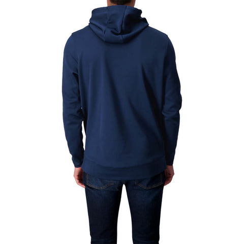 UNDER ARMOUR MEN'S ARMOUR FLEECE BIG LOGO HOODY ACADEMY/BLACK