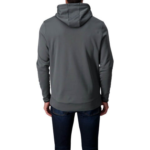 UNDER ARMOUR MEN'S ARMOUR FLEECE HOODY PITCH GREY/BLACK
