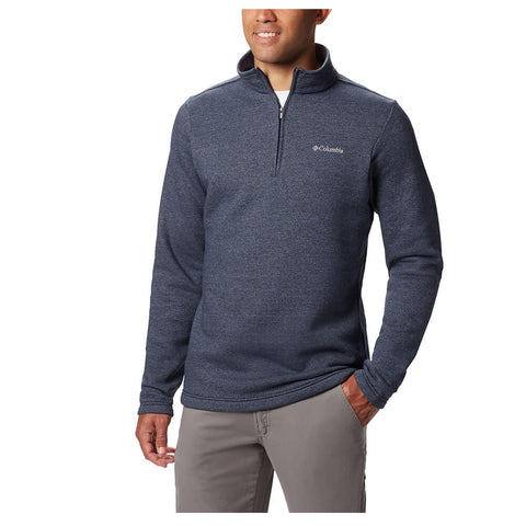 COLUMBIA MEN'S GREAT HART MOUNTAIN III 1/2 ZIP TOP NAVY