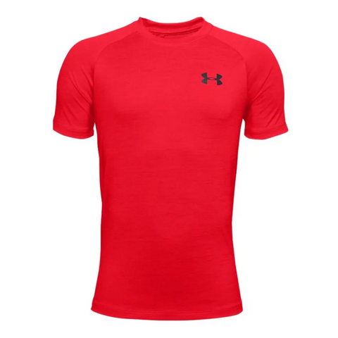 UNDER ARMOUR BOY'S TECH 2.0 SHORT SLEEVE RED