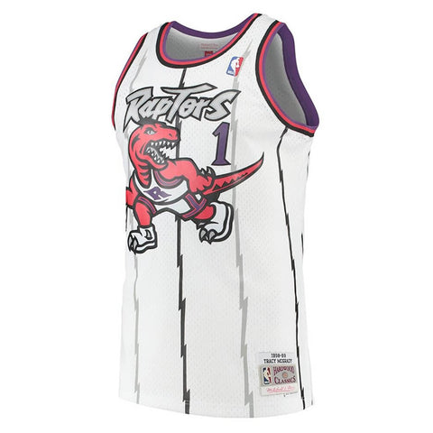 MITCHELL & NESS MEN'S TORONTO RAPTORS SWINGMAN JERSEY MCGRADY WHITE