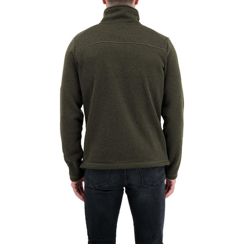 MCKINLEY MEN'S RUBIN II KNIT JACKET FOREST NIGHT MELANGE