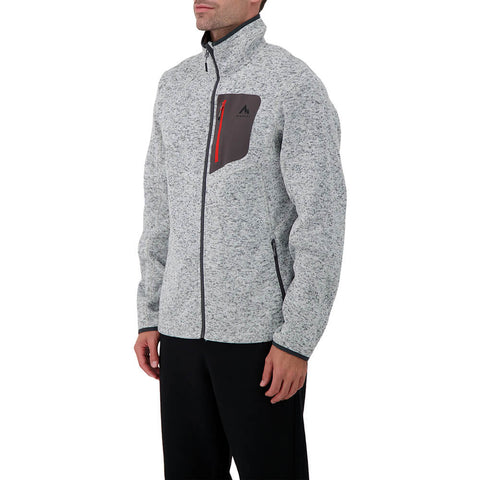 MCKINLEY MEN'S SKEENA II KNIT LOOK JACKET MONUMENT MELANGE