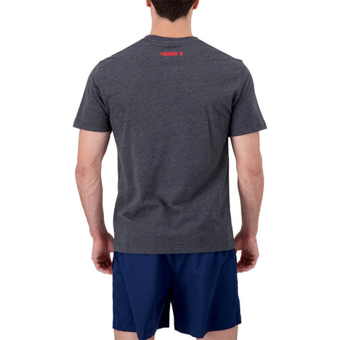 AND 1 MEN'S ALL CITY SHORT SLEEVE TOP CHARCOAL HEATHER