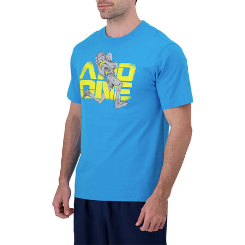 AND 1 MEN'S SLAM DUNK SHORT SLEEVE TOP ATOMIC BLUE
