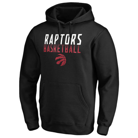 FANATICS MEN'S TORONTO RAPTORS ICONIC DOUBLE FADE FLEECE HOODY BLACK