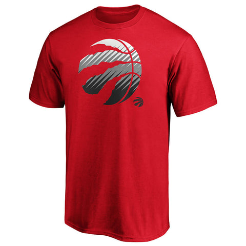FANATICS MEN'S TORONTO RAPTORS ICONIC ANGLED CUTS SHORT SLEEVE TOP RED