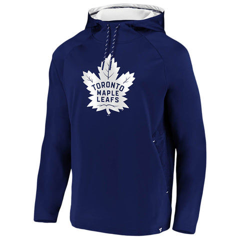 FANATICS MEN'S TORONTO MAPLE LEAFS ICONIC DEFENDER PULLOVER HOODY BLUE/WHITE