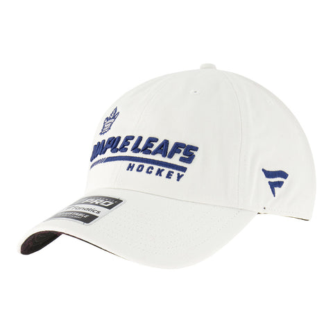 FANATICS MEN'S TORONTO MAPLE LEAFS LOCKER ROOM SLOUCH ADJUSTABLE CAP WHITE