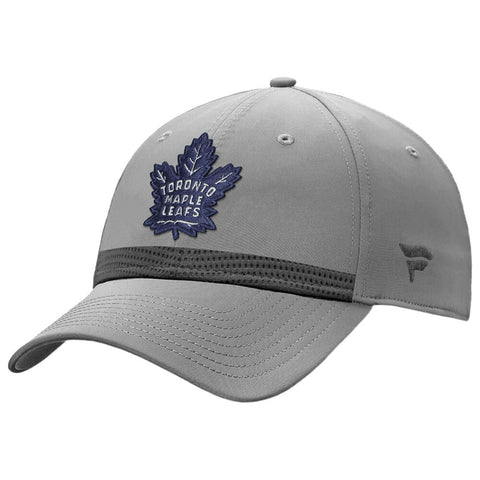 FANATICS MEN'S TORONTO MAPLE LEAFS HOME ICE STRUCTURED ADJUSTABLE HAT GREY