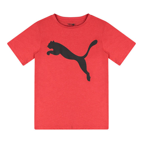 PUMA BOY'S SPEED PACK SHORT SLEEVE BIG CAT GRAPHIC TEE HIGH RISK RED