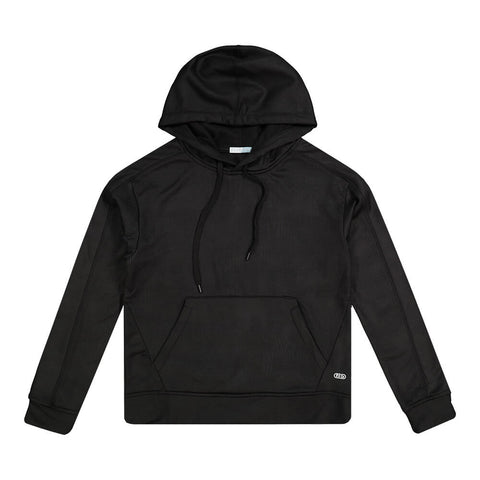 ELLE SPORTSWEAR WOMEN'S POLY FLEECE AOP HOODY BLACK