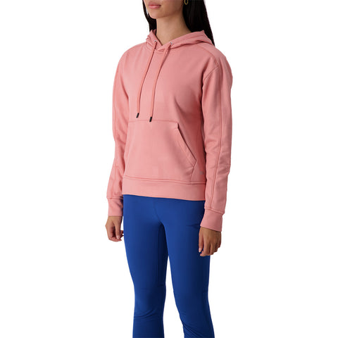 ELLE SPORTSWEAR WOMEN'S POLY FLEECE AOP HOODY DUSTY PINK
