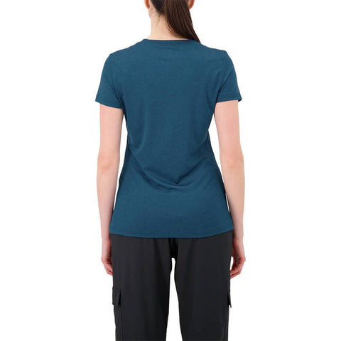 FILA WOMEN'S SILKY V-NECK TEE GIBRALT SEA HEATHER