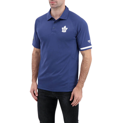 FANATICS MEN'S TORONTO MAPLE LEAFS AUTHENTIC PRO RINKSIDE POLO BLUE/WHITE