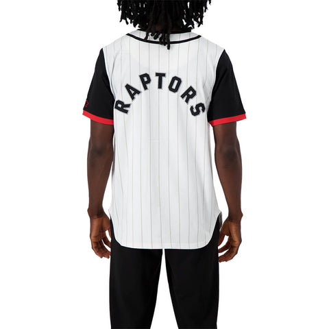 STARTER MEN'S TORONTO RAPTORS BASEBALL JERSEY WHITE/BLACK