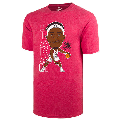 47 BRAND MEN'S TORONTO RAPTORS BOBBLEHEAD SHORT SLEEVE TOP SIAKAM RED